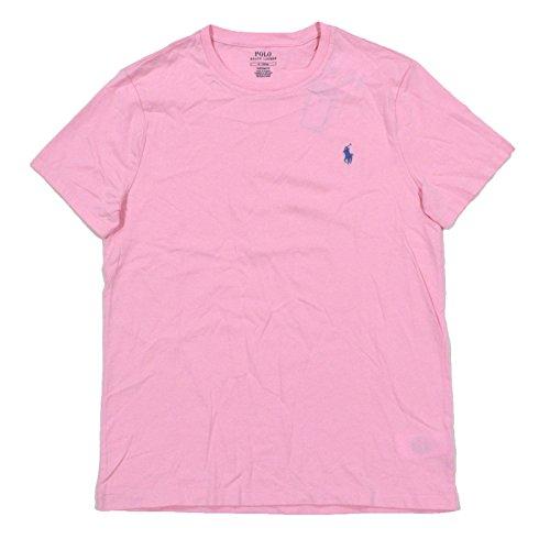 Polo Ralph Lauren Mens Custom Fit Short Sleeve Crew Neck T-Shirt (L, - Pink Ralph