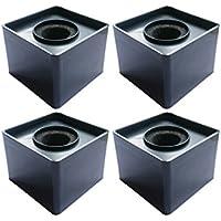 Actopus 4PCS Black Microphone Cube Interview Square Mic...
