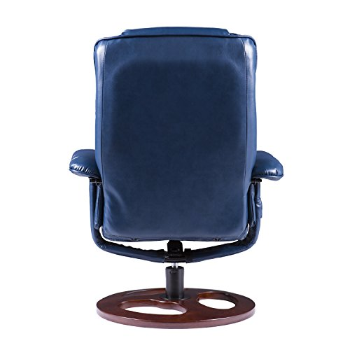 Furniture HotSpot – Faux Leather Recliner and Ottoman - 31.5
