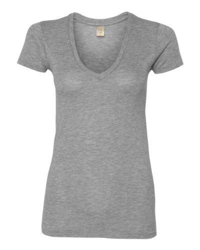 Alternative - Ladies' Karen Short Sleeve V-Neck T-Shirt - 4032 - Heather Grey - Large