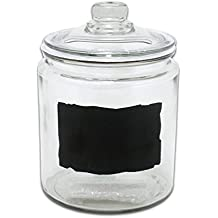 Anchor Hocking Heritage Hill 1/2 Gallon Glass Dry Good Storage Jar with Chalkboard Label