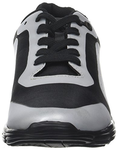 Calvin Klein Men's Morris Nylon/Hf Reflex Trainers Multicolour (Black/Silver) for nice online 64ulHf