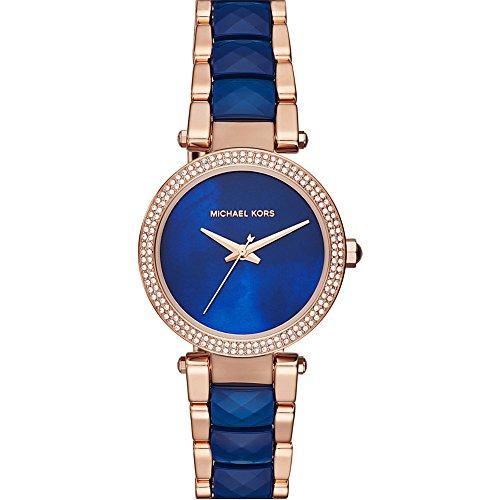 Michael Kors Women's 'Mini Parker' Quartz Stainless Steel Casual Watch, Color:Rose Gold-Toned (Model: MK6527) by Michael Kors