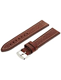 Hadley-Roma Men's MSM894RB-200 20mm Brown Genuine Leather Watch Strap