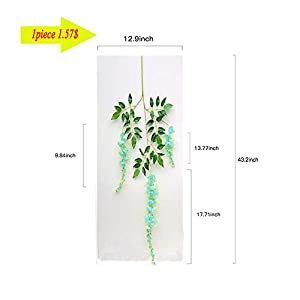 14 Pack 3.6 Feet/Piece Artificial Silk Wisteria Vine Ratta Hanging Flowers Party Wedding Decor 2