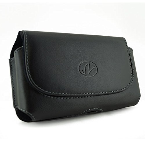 Leather Case Holster Cover Side Pouch with Belt Clip for Verizon Apple iPhone 4 - BCB - Iphone Case Word 4s