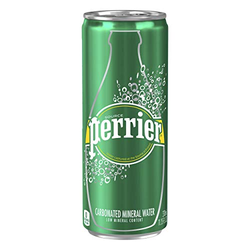 Perrier Carbonated Mineral Water, Slim Cans, 8.45 Fl Oz (Pack of 30) from Perrier