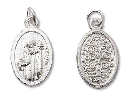 AT001 Catholic & Religious St Benedict/St Benedict Medal Mini Devotional Medal - ()