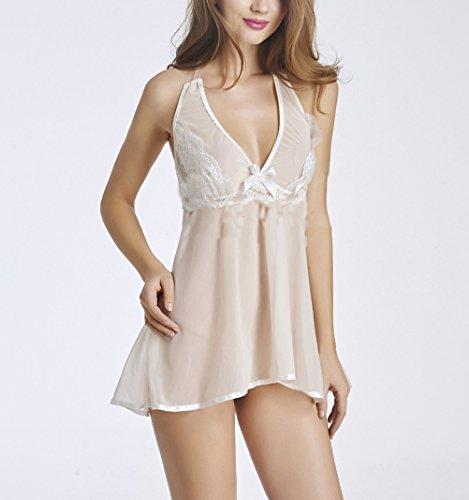Collo Fashionable Ragazza Estivi Scollo Trasparente V Babydoll Donna Intimo Lingerie Abbigliamento In Pink Camicie Halter Pizzo Notte Da Pigiama nfq8P8pvxw