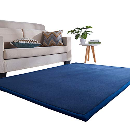Lyfreen Memory Foam Kid Room Rug Modern Nursery Area Rug Kids Play Rug for Boys Girls Ultra Soft Children Bedroom Rug Infant Toddler Nursery Room Rug, Navy Blue 3.28'x 6.56' Baby Crawling mat Yoga Mat (Foam Living Room Rugs For Memory)