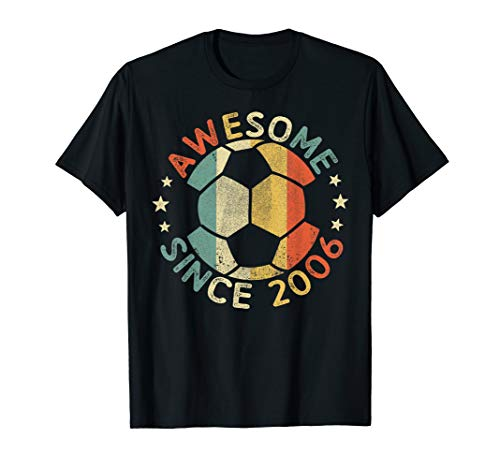 Awesome Since 2006 13th Birthday 13 Year Old Soccer Player T-Shirt (Birthday Party For 13 Yr Old Girl)