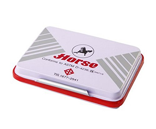 horse-stamp-pad-ink-pad-red-color-no4