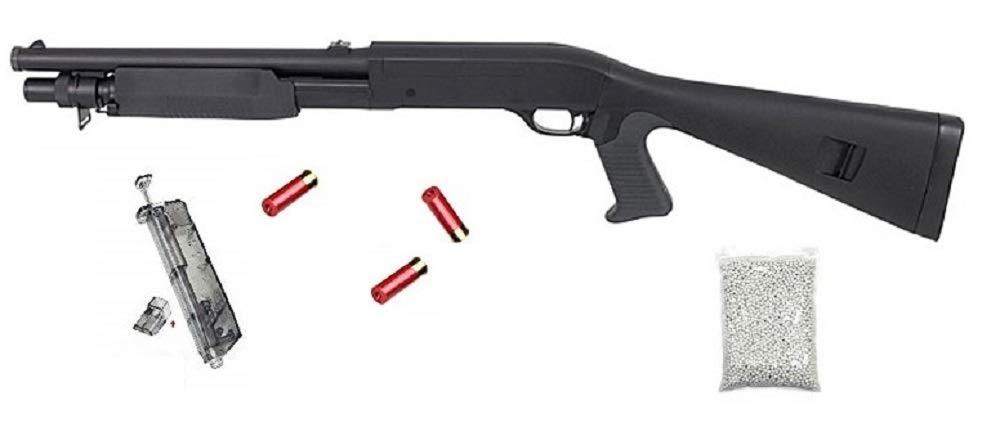 3X Magazine - M56A Flinte unter 0,5J 1000 Premium BBS Munition 1:1 Replica Shotshells Speedloader VIKING GEAR/® Shotgun Softair Ink