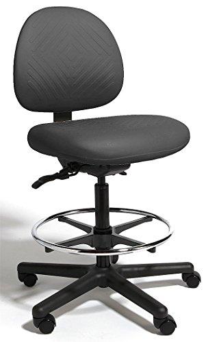 Cramer - TPMM4-252-2 - Black Polyurethane Intensive 24/7 Task Chair 15 Back Height, Arm Style: No Arm