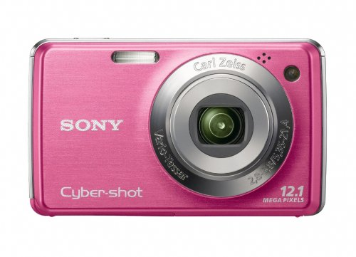 Sony Cybershot DSC-W220 12MP Digital Camera with 4x Optical Zoom with Super Steady Shot Image Stabilization (Light Pink) (OLD MODEL) (Detection Cyber Face Sony Shot)