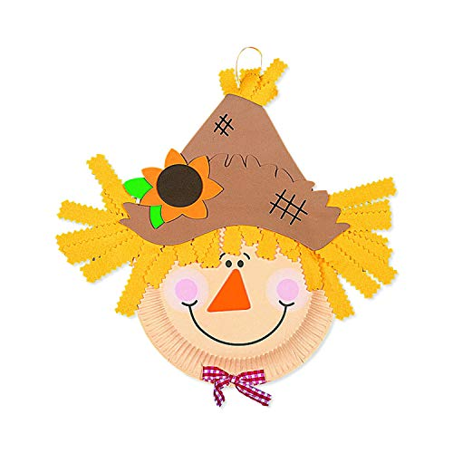 Paper Plate Scarecrow Craft Kit Makes 12 Crafts for Kids amp Novelty Crafts Fall amp Thanksgiving Activities
