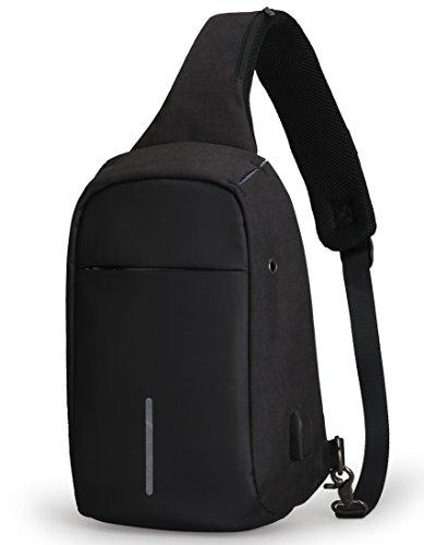 [해외]안티 절도 슬링 가방 숄더 크로스 바디 백팩 경량 캐주얼 데이 팟쿠/Anti Theft Sling Bag Shoulder Chest Cross Body Backpack Lightweight Casual Daypack