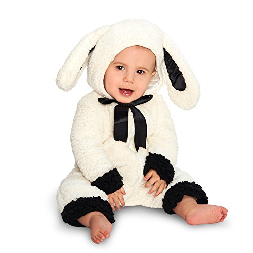 Dream Weavers Costumers Black and White Baby Lamb Infant Dress Up Costume 12-18M