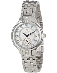 Philip Stein Womens 44SD-FMOP-SS5 Stainless Steel Watch with Diamond Studding and Link Bracelet