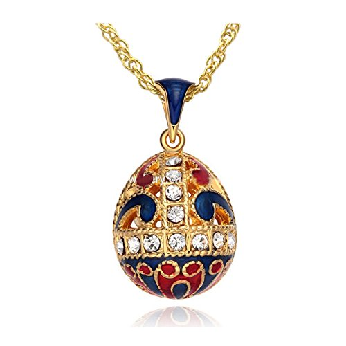 MYD Jewelry Enamel Hollow Flower Faberge Egg Pendant for sale  Delivered anywhere in USA