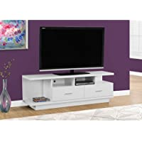 Monarch I 2676 TV Stand with 2 Drawers, 60, White