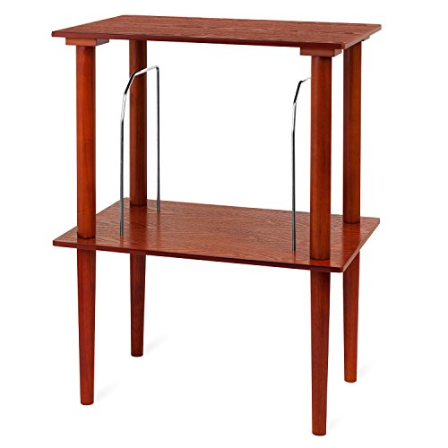 Record Stand - Victrola Wooden Stand for Wooden Music Centers with Record Holder Shelf, Mahogany