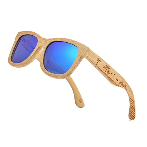 Carved Collection - Bamboo Wood Polarized Sunglasses For Men & Women -Temple Carved Collection