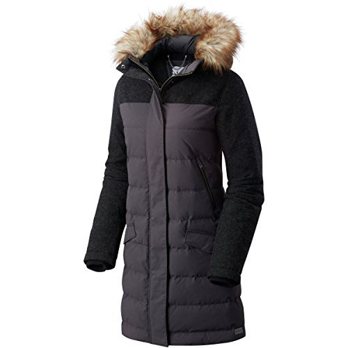 SOREL Tivoli Long Hooded Down Jacket - Women's Dark Grey/Black, XL