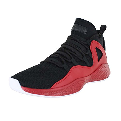 Nike Jordan Mens Jordan Formula 23 Black/Black Gym Red White Basketball Shoe 10 Men US (Red And Black 23 Jordans)