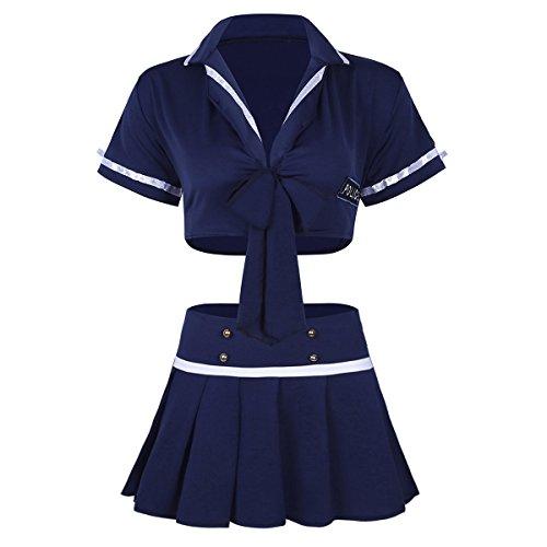 iiniim Women Girl Sexy Police Uniform Funny Cop Office Costume for Cosplay Lingerie Halloween