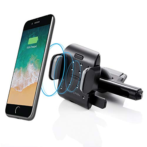 (Dash Crab Roulette Air Qi Wireless Fast Charge CD Slot Car Mount Holder for iPhone X 8/8 Plus Samsung Galaxy S9 S9 Plus S8 S7/S7 Edge Note 8)