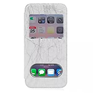 LCJ Lightning Pattern Polycarbonate Case for iPhone 6 (Assorted Colors) , White