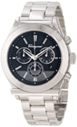 "Salvatore Ferragamo Men's F78LCQ9909 S099 ""Salvatore Ferragamo 1898"" Stainless Steel Chronograph Watch"