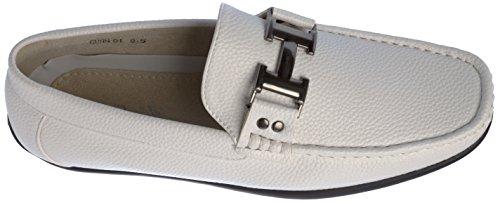 Brix Menns Slip-on Fashion-loafer Sko Hvit