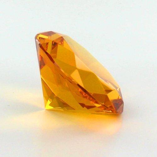 Citrine Orange Diamond Paperweight JK