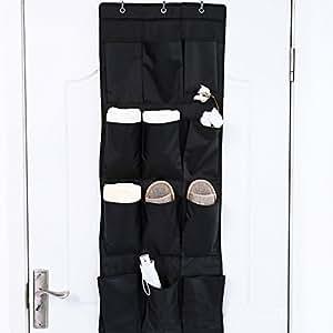 Jacklook over the door shoe organizer 12 for 12 pocket over the door shoe organizer