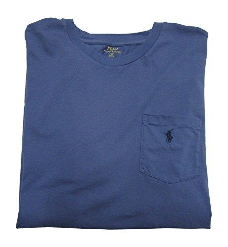 Polo Ralph Lauren Mens' Big and Tall T-Shirt Jersey Crew Neck Pocket T-Shirt (2XT, Carson Blue)