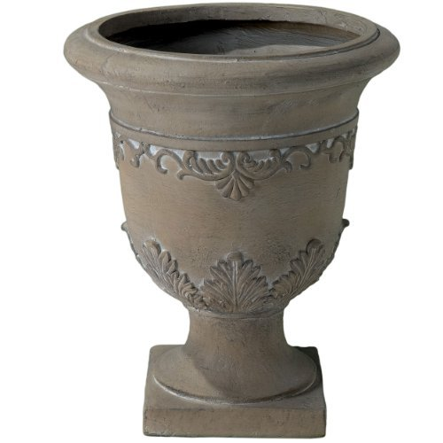 - Christopher Knight Home 217258 Floriana Antique Green Stone Planter