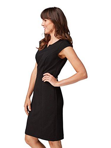 Bonita Schlitzausschnitt Kleid Deep mit Damen Black xxqfwpFR