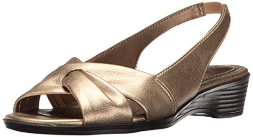 LifeStride Women's Mimosa 2 Flat Sandal, Soft Gold, 7.5 M US -