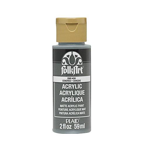 FolkArt Plaid:Craft Acrylic Paint, 2-Ounce, Ash by FolkArt