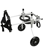 "Anmas Box Adjustable Dog Pet Wheelchair for Hind Legs Rehabilitation, 2 Wheels Dog Cart Wheels (S-(Hip Height: 7""-9"", Weight: 3-15lbs))"