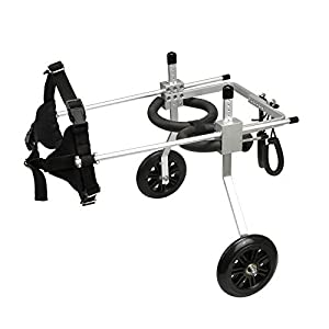 [, Ships from Ca, USA] Anmas Home Adjustable Dog Wheelchair for Small Dogs Hip Height 13″-16″, Wheelchair for Back Legs Rehabilitaion Click on image for further info.