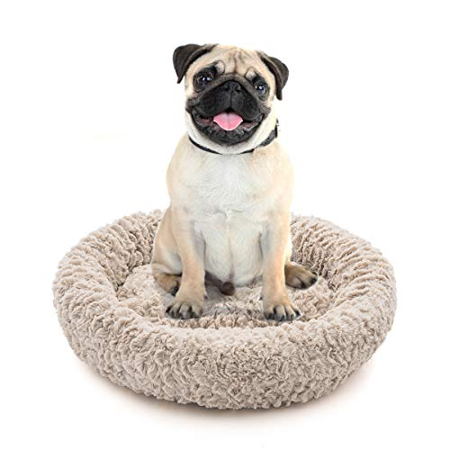 Orthopedic Dog Bed Comfortable Donut Cuddler Round Dog Bed Ultra Soft Washable Dog and Cat Cushion Bed (22''x 22''x 5'') (Style 4) ()