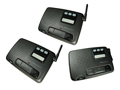 Black Home Office Intercom Digital FM Wireless 3-Channel System (3 Way Intercom)