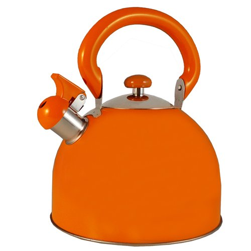 FancyCook Stainless Steel Whistling Orange Tea Kettle 3-Qt (Le Chef Water Boiler compare prices)