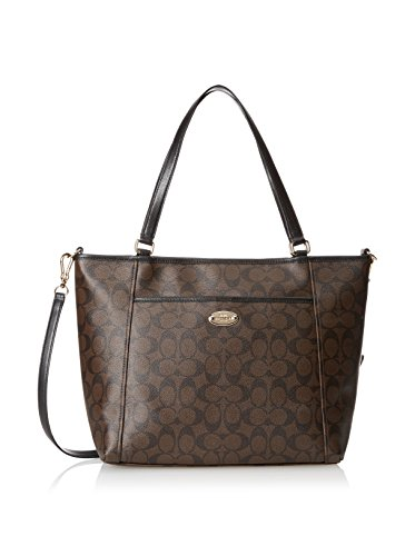 Coach Peyton Signature Pocket Tote - Brown/Black by Coach