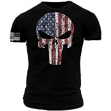 Punisher American Flag Premium Athletic Fit T-Shirt