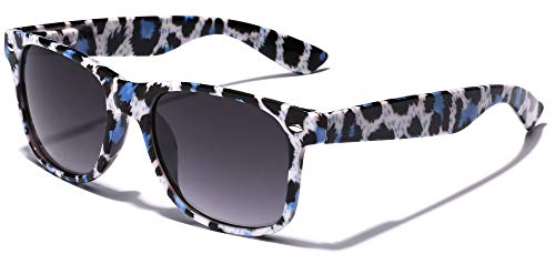 Children Colorful Animal Print Sunglasses Age 6-14 - White & Blue (Zebra Print Glasses)