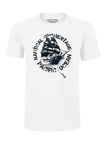 Human Family - Herren T-Shirt mit großem Black Pearl Print aus Bio-Baumwolle